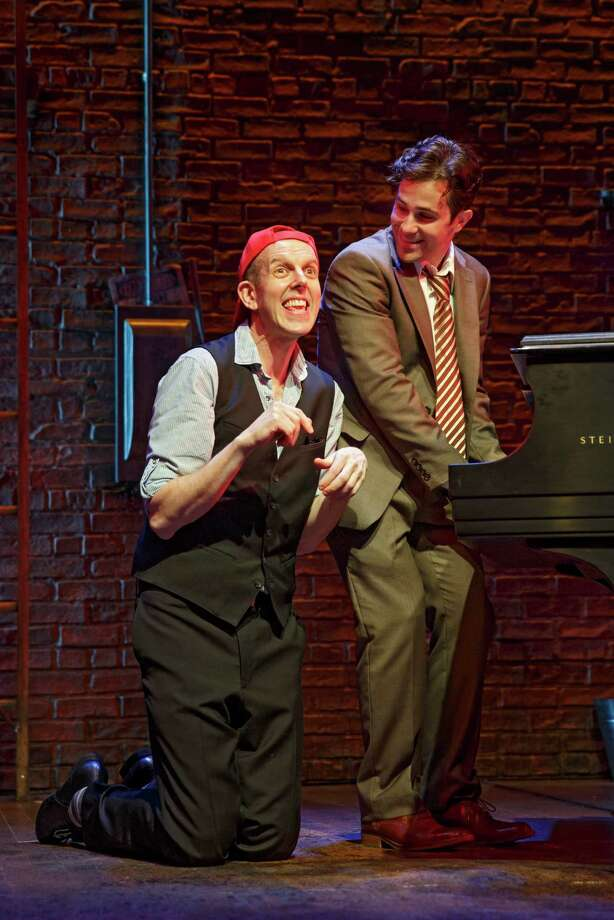 "Jeff Blumenkrantz, left, and Brett Ryback scored a big hit off-Broadway playing 13 different characters in the mystery musical, ""Murder for Two,"" that is getting a special summer run at Long Wharf Theatre, starting Wednesday, Aug. 19. Photo: Contributed Photo"