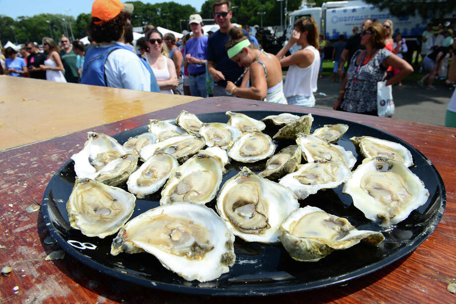 Oysters at last year's Milford Oyster Festival. Photo: Christian Abraham / Hearst Connecticut Media / Connecticut Post