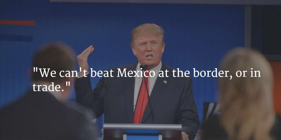 Even during his closing remarks Trump took a shot at Mexico. Photo: Getty Images