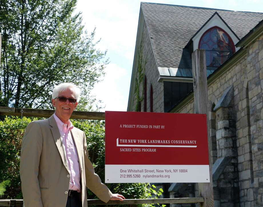 Chair of Building Committee Gordon Boyd stands outside Bethesda Episcopal Church on Tuesday, August 4, 2015, in Saratoga Springs, N.Y. (Olivia Nadel/ Special to the Times Union) Photo: ON / 10032887A