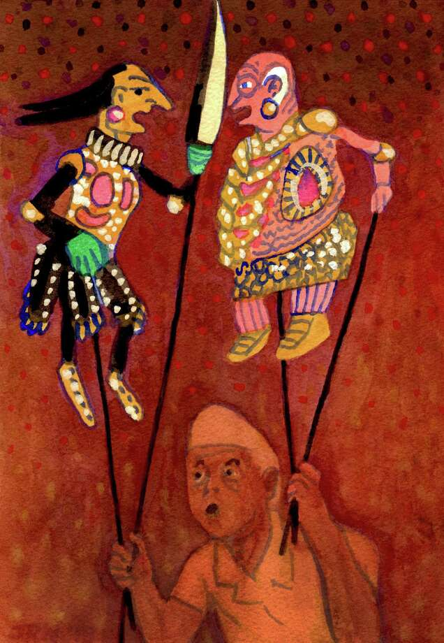 A Balinese puppet master inspired a watercolor painting by Norwalk artist John Newcomb. Photo: Contributed Photo / Connecticut Post Contributed