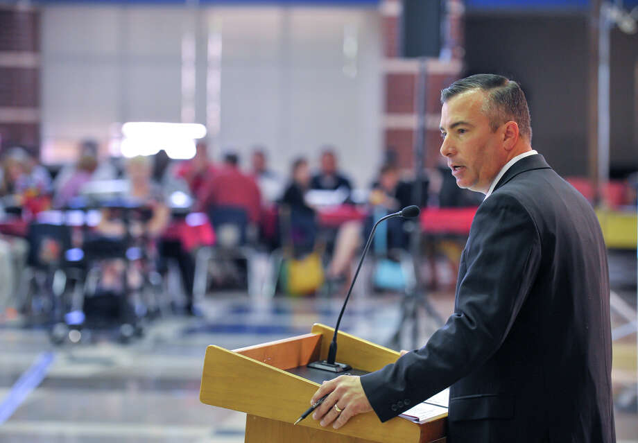 Northside Independent School District Superintendent Brian Woods, shown in a file photo, is satisfied that his district has made progress in the state accountability ratings while denouncing the rating system for schools. Photo: Robin Jerstad /San Antonio Express-News