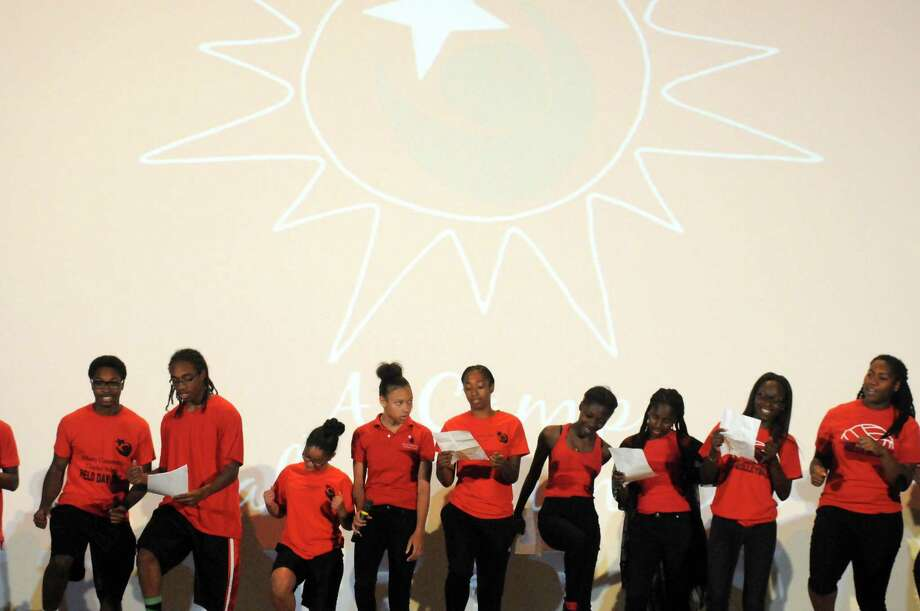 A Camp Called Summer from Albany Community School performs during the Albany's LIGHT Summer Youth Employment Program (SYEP) annual Recognition Event at the Palace Theater on Friday Aug. 7, 2015 in Albany, N.Y. (Michael P. Farrell/Times Union) Photo: Michael P. Farrell / 00032932A