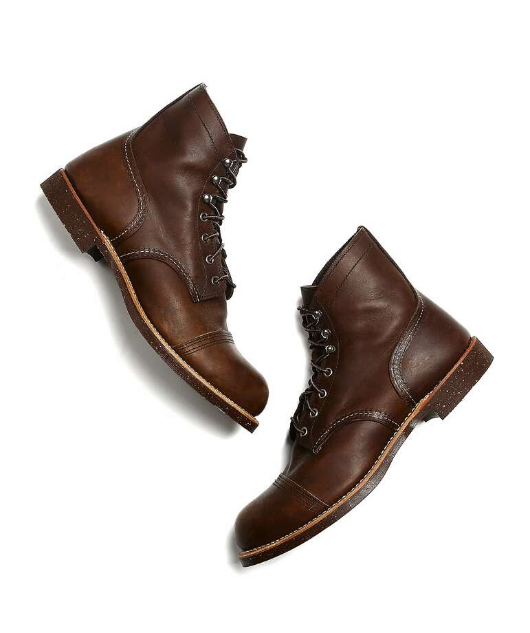 Club Monaco Men's red wing boots. Photo: Club Monaco