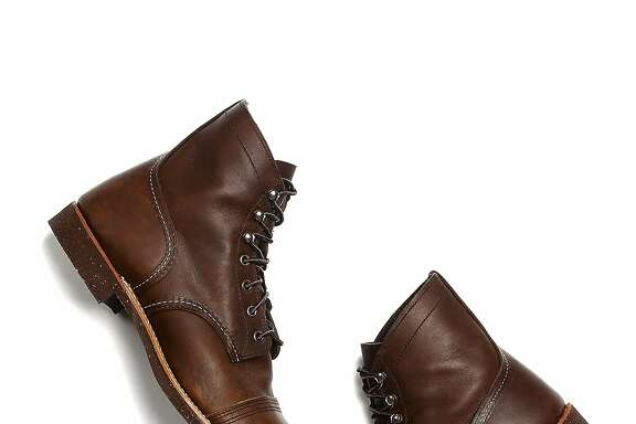 Club Monaco Men's red wing boots.