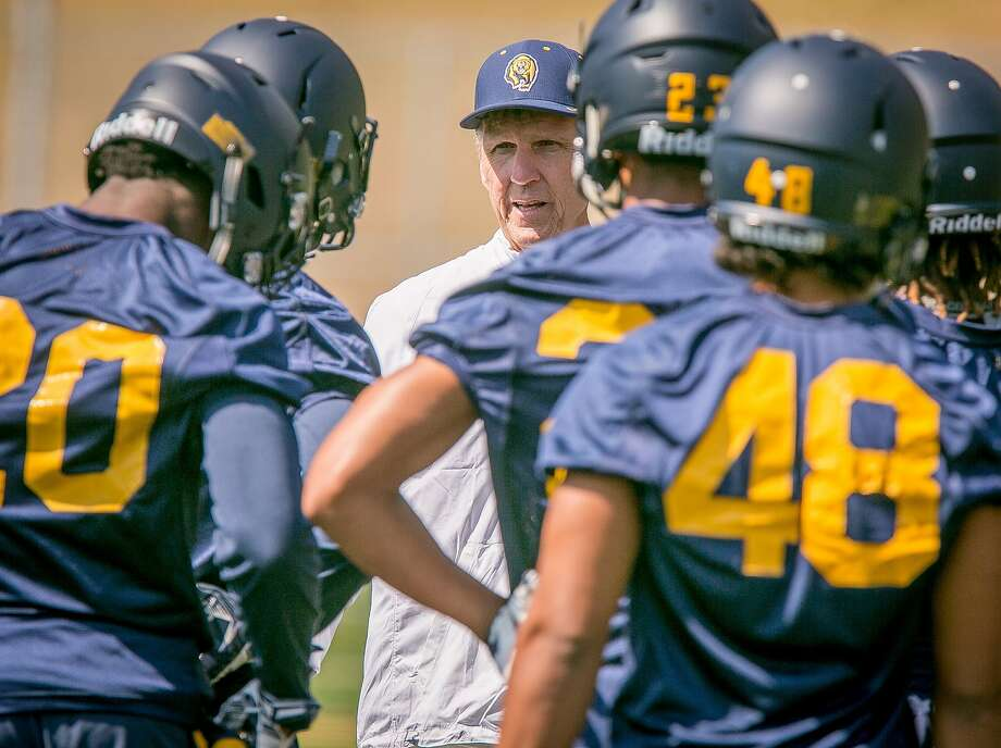 Cornerbacks coach John Lovett at Cal Football practice at Memorial Stadium in Berkeley, Calif., on Friday, August 7th, 2015. Photo: John Storey, Special To The Chronicle