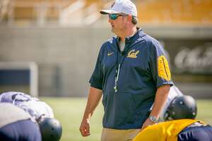 Head Coach Sonny Dykes at Cal Football practice at Memorial Stadium in Berkeley, Calif., on Friday, August 7th, 2015.