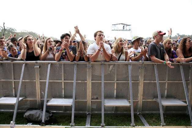 Festival goers watching St. Vincent perform at Outside Lands music festival in San Francisco, California, on Friday, Aug. 7, 2015. Photo: Connor Radnovich, The Chronicle