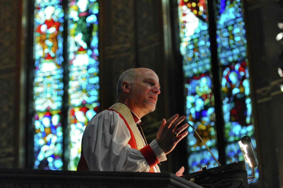 The Rt. Rev. William H. Love, Bishop of Albany, delivers the sermon at St. Peter's Episcopal Church during a service to begin the church's year long celebration of its 300th anniversary on Sunday, Feb. 5, 2012, in Albany, N.Y. Times Union archive