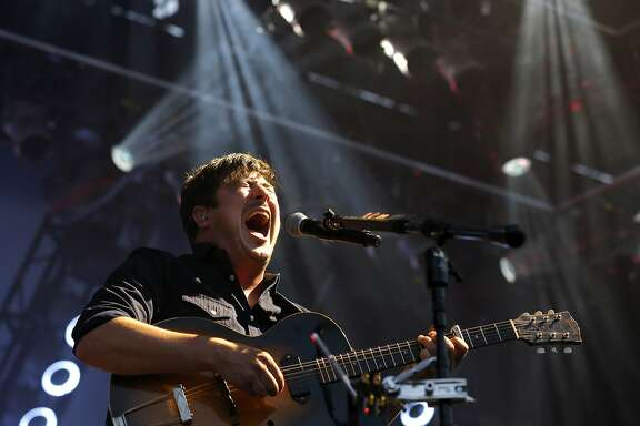 Marcus Mumford of Mumford and Sons performs at Outside Lands music festival in San Francisco, California, on Friday, Aug. 7, 2015.