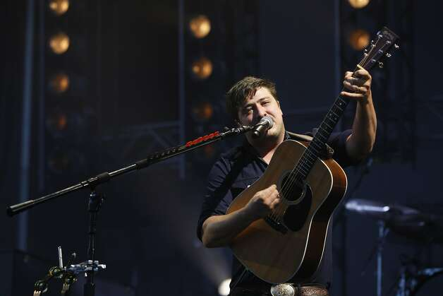 Marcus Mumford, guitarist of Mumford and Sons, plays at Outsidelands in San Francisco, California, on Saturday, May 30, 2015. Photo: Brandon Chew, The Chronicle