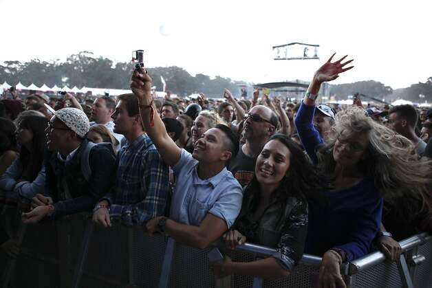 Attenedees gather to see Mumford and Sons play at Outsidelands in San Francisco, California, on Saturday, May 30, 2015. Photo: Brandon Chew, The Chronicle