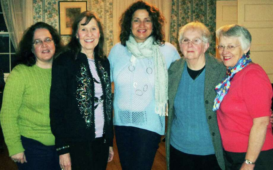 Guiding the current path of the New Preston Women's Club as it celebrates its centennial are board members, from left, Margeret Cheney, Marylyn Roze, Rebecca Perrin, Doris Waldron and Jane Moore. Photo: Contributed Photo / The News-Times Contributed