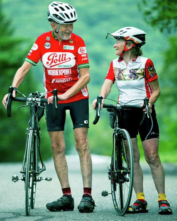 Avid cyclists Bob and Teresa Bobbit have countless miles still to pedal as they near their 80th birthdays. Photo: Jon Veleas / Contributed Photo / The News-Times Contributed