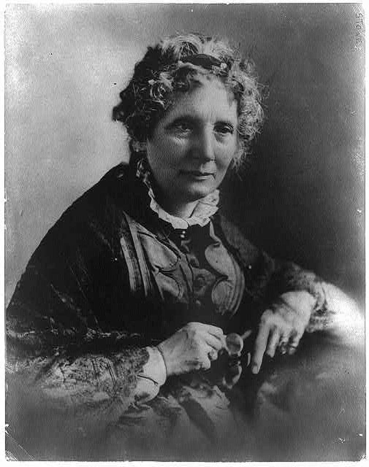 Harriet Beecher Stowe (1811-1896), author of the classic anti-slavery novel,