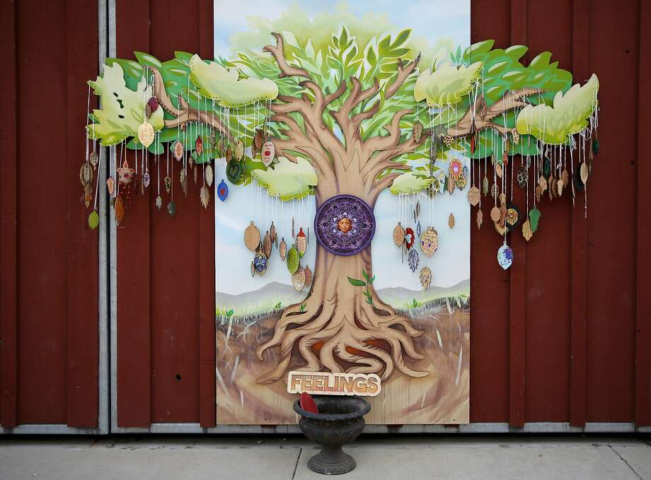 A memorial tree built for Madyson Middleton at the Tannery Arts Center in Santa Cruz, California, on Wednesday, Aug. 5, 2015. Photo: Connor Radnovich, The Chronicle