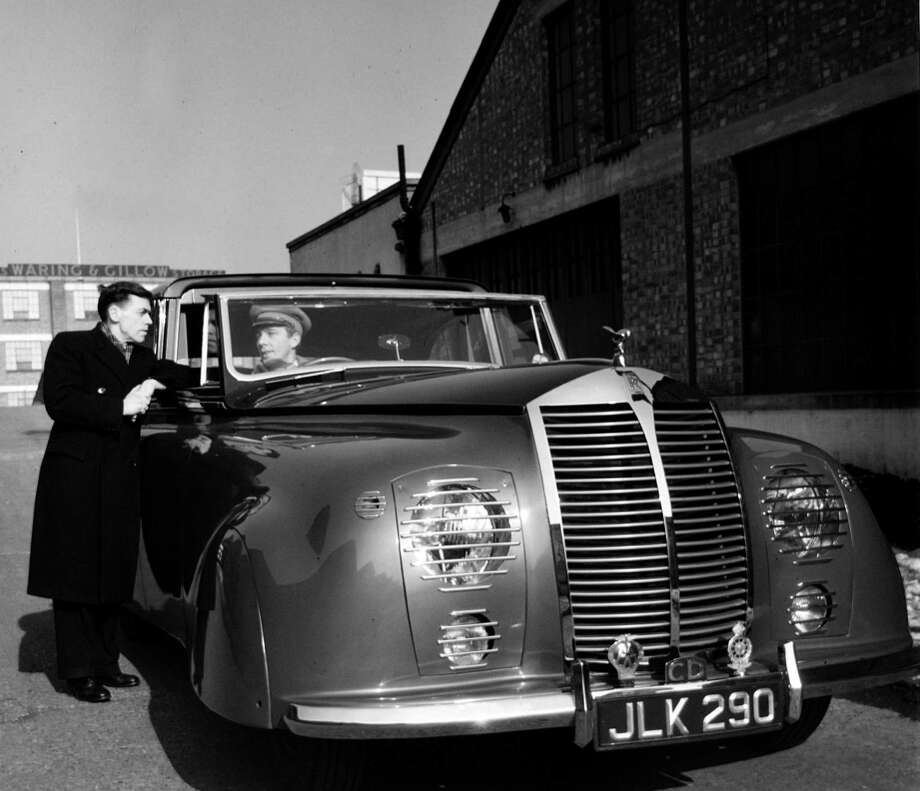 Transport, pic: 1948, Britiain's most famous motor car the Rolls Royce, this 1948 model a streamlined unorthodox model specially made for a client Photo: Popperfoto, Getty Images / Popperfoto