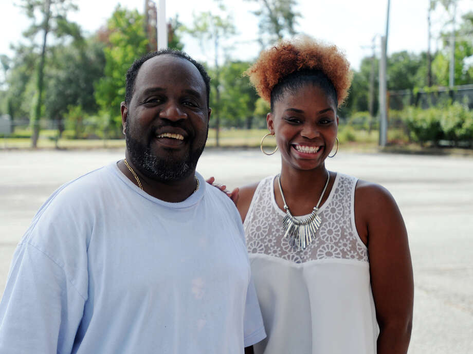 Steve Jackson and Keisha Edwards pose for a photo Saturday. The 4th annual Zummo Meat Company Big Cup Challenge was held Saturday at the Beaumont Country Club. The golfing event benefited the Anayat House. Photo taken Saturday 8/8/15 Jake Daniels/The Enterprise Photo: Jake Daniels / ©2015 The Beaumont Enterprise/Jake Daniels