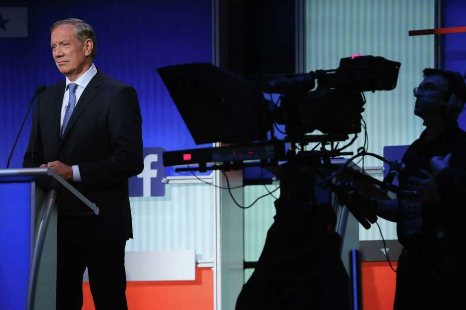 CLEVELAND, OH - AUGUST 06:  Republican presidential candidate George Pataki participates in a presidential pre-debate forum hosted by FOX News and Facebook at the Quicken Loans Arena August 6, 2015 in Cleveland, Ohio. Pataki and six other GOP candidates were selected to participate in the forum based on their rank in an average of the five most recent national political polls.  (Photo by Chip Somodevilla/Getty Images) ORG XMIT: 568970543 Photo: Chip Somodevilla / 2015 Getty Images