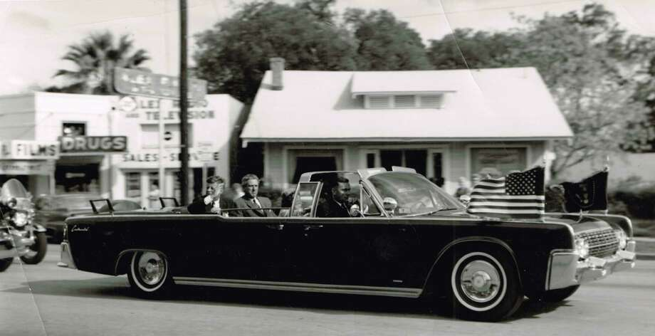 A photo of President Kennedy's motorcade was printed for pharmacy owner Al Abramson, the reader's father, who produced them as a keepsake of a historic event, taken during Kennedy's Nov 21, 1963, visit to San Antonio, the day before he was assassinated. Photo: Courtesy Photo