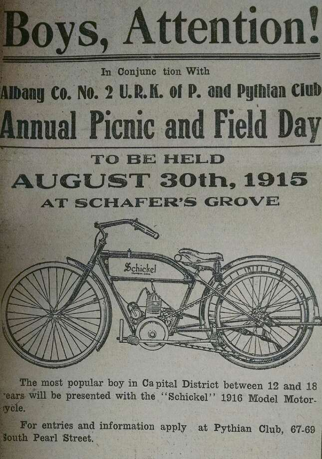 This enticing ad was placed in the Times-Union of Aug. 9, 1915. (Times Union archive)