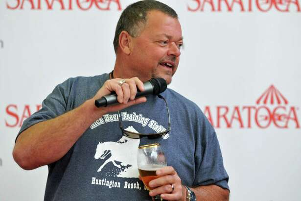 Trainer Eric Guillot speaks during the draw for the Whitney Handicap on Tuesday, August 4, 2015, at Sperry's in downtown Saratoga Springs, N.Y. (Phoebe Sheehan/Special to The Times Union)