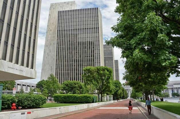 Agency buildings at the Empire State Plaza Tuesday July 14, 2015 in Albany, NY.  (John Carl D'Annibale / Times Union) Photo: John Carl D'Annibale / 00032594A