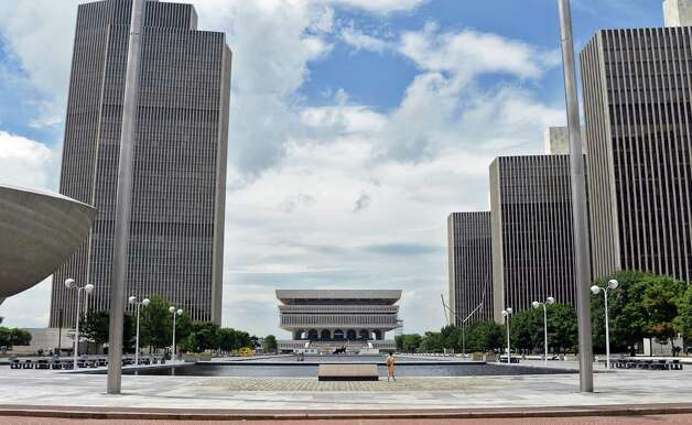 The Empire State Plaza looking south toward the State Museum Tuesday July 14, 2015 in Albany, NY.  (John Carl D'Annibale / Times Union) Photo: John Carl D'Annibale / 00032594A