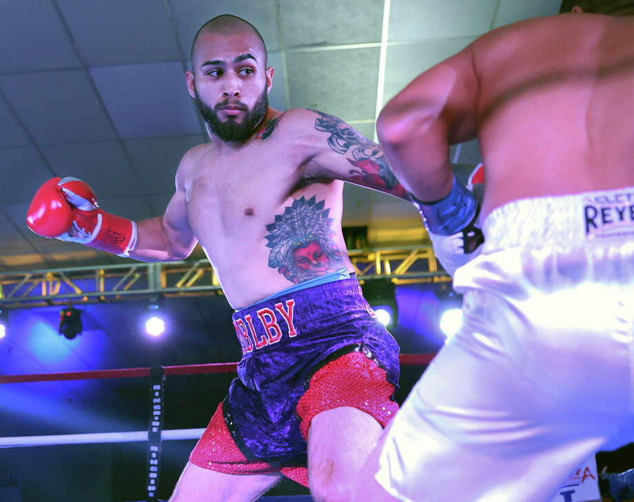 James Leija, Jr.'s pro boxing debut against Cesar Martinez at the San Antonio Event Center on August 8, 2015. Photo: Tom Reel, Staff / San Antonio Express-News / San Antonio Express-News