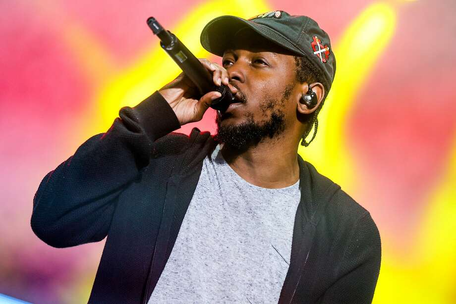 Kendrick Lamar performs at Outside Lands Music Festival at Golden Gate Park on Saturday, Aug, 8, 2015, in San Francisco, Calif. (Photo by Rich Fury/Invision/AP) Photo: Rich Fury, Associated Press