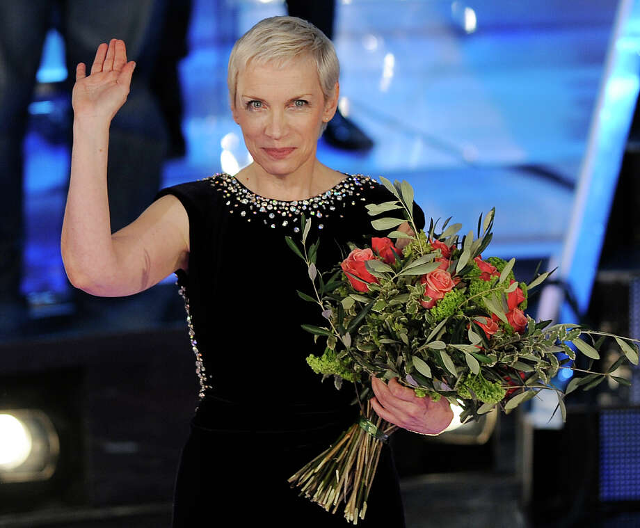 Annie Lennox, famed singer who began her career in England in the 1970s and later went on with Dave Stewart to wild success with the band Eurthymics, is seen in 2009 at a music festival in Italy. Media outlets report that Lennox's daughter, Tali Fruchtmann, was involved in a kayaking accident north of Poughkeepsie on Aug. 9, 2015 that left her boyfriend, Ian Jones, missing.  (AP Photo/Antonio Calanni, file) Photo: ANTONIO CALANNI / AP