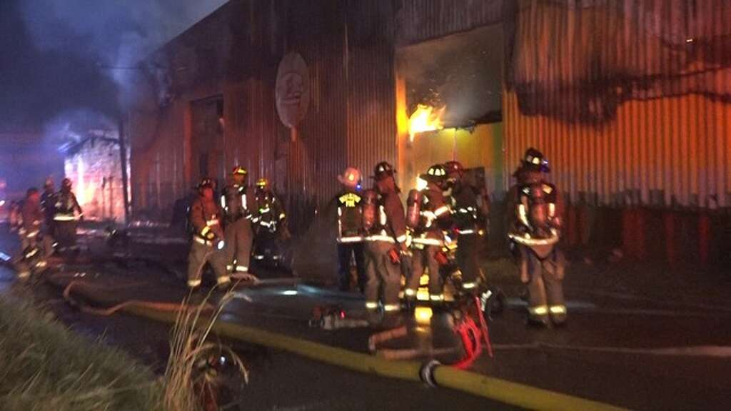 Houston Firefighters Battled A Two Alarm Fire At Furniture Bank On The Gulf  Freeway In