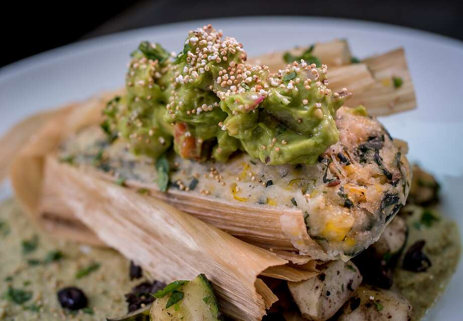 The fresh Corn Tamale at Millennium in Oakland. Photo: John Storey, Special To The Chronicle