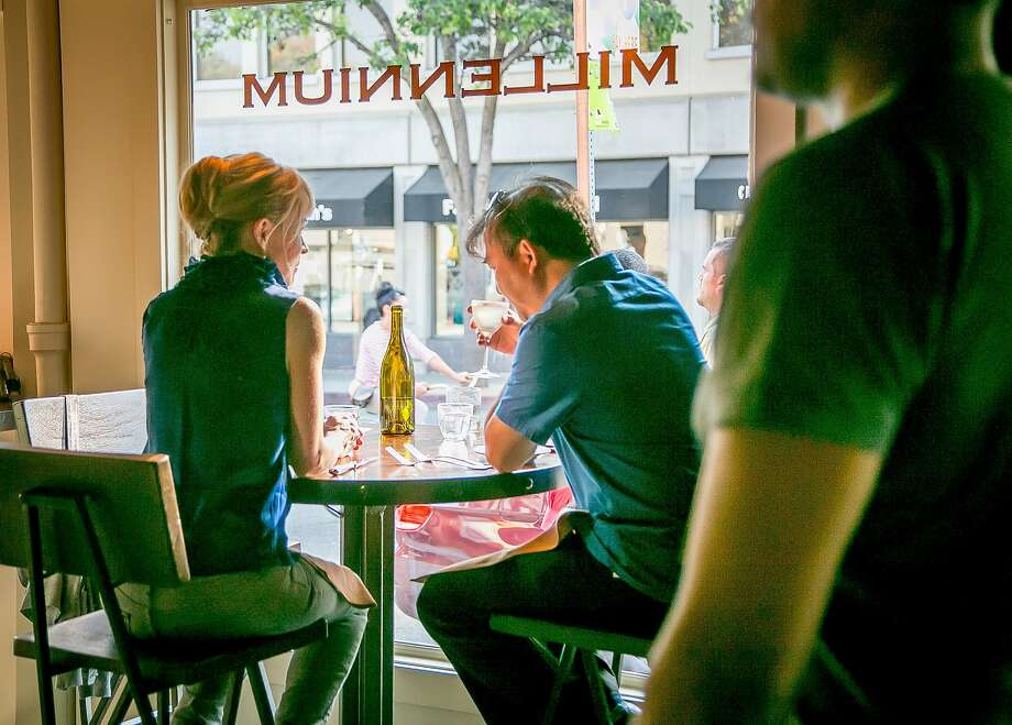 Vegan restaurant Millennium has a casual industrial look at its new Oakland space, but the chefs missed an opportunity to take a fresh look at what they do. Photo: John Storey, Special To The Chronicle