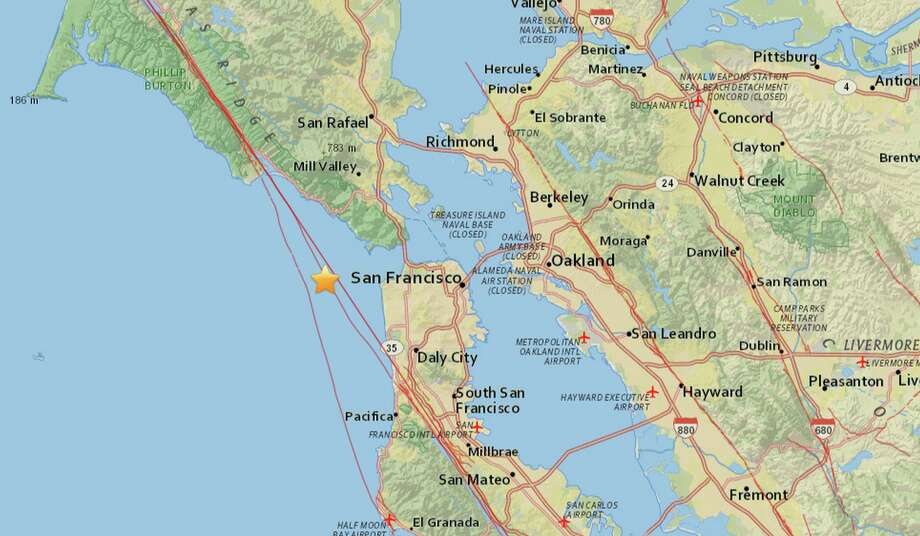A 3.3 earthquake struck the Bay Area on Sunday, August 9, 2015 at 1:26 p.m. Photo: USGS