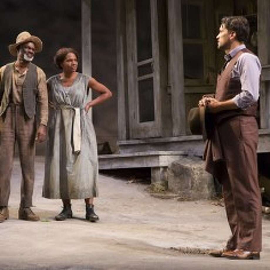 "From left, Glynn Turman, Audra McDonald and Will Swenson in ""A Moon for the Misbegotten"" at Williamstown Theatre Festival. (WTF publicity photos by T. Charles Erickson)"