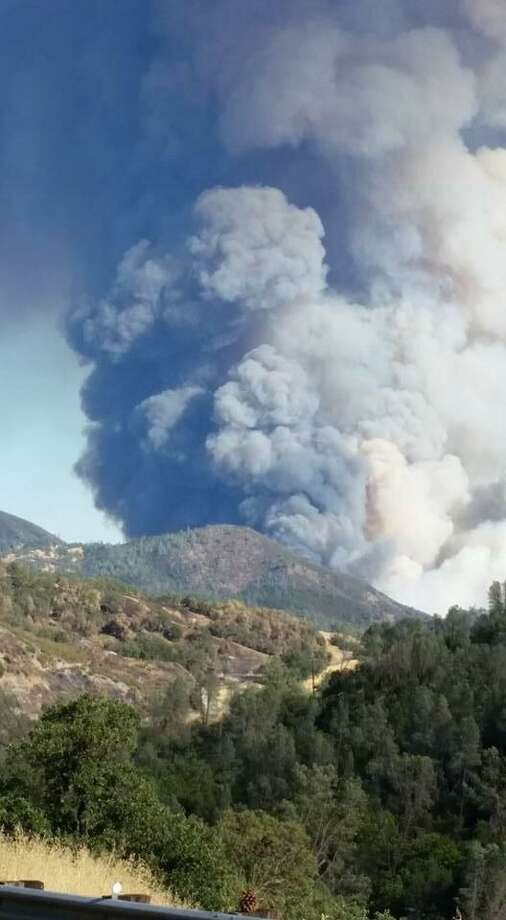 The Jerusalem Fire in Lake County quickly grew to 2,000 acres on Sunday, Aug. 9, 2015. Photo: Courtesy, Patricia Britton