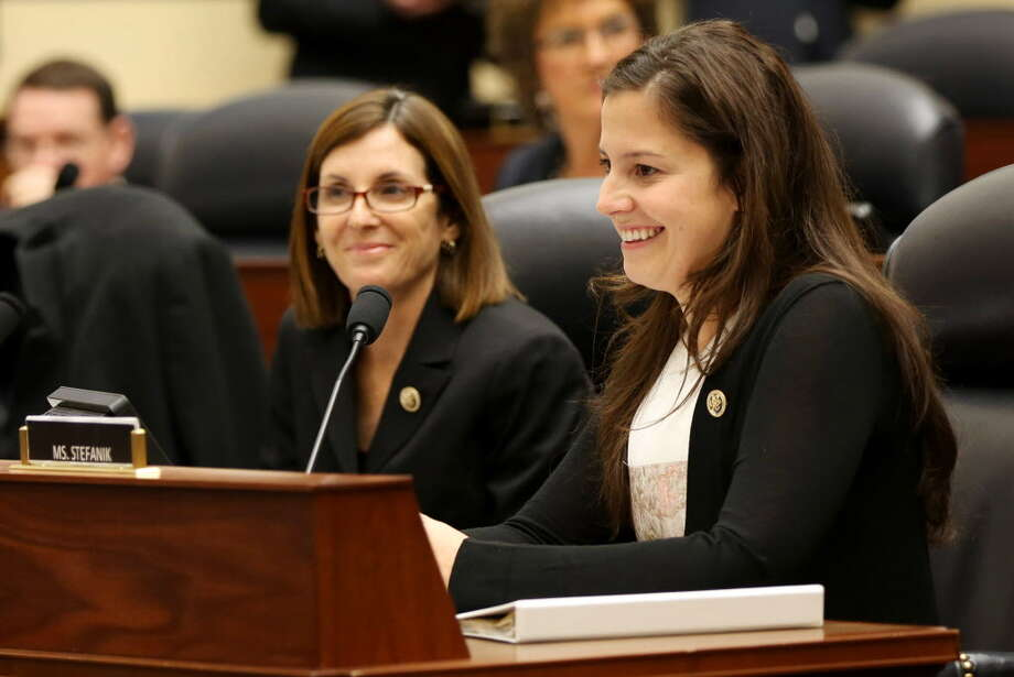 U.S. Rep. Elise Stefanik during a House Armed Services Committee hearing, Jan. 28, 2015, in Washington, DC.  (Connor Radnovich/Times Union archive) Photo: Connor Radnovich