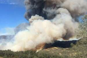 The Jerusalem Fire in Lake County quickly grew to 2,000 acres on Sunday, Aug. 9, 2015.