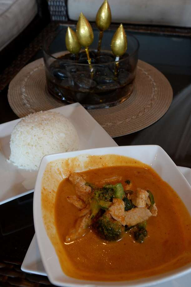 Panang Curry is a red curry-based dish that includes choice of meat with broccoli and bell peppers and a side of rice at Chaba Thai Bistro on Phelan Road in Beaumont. Photo taken Wednesday, July 29, 2015 Kim Brent/The Enterprise Photo: Kim Brent/The Enterprise