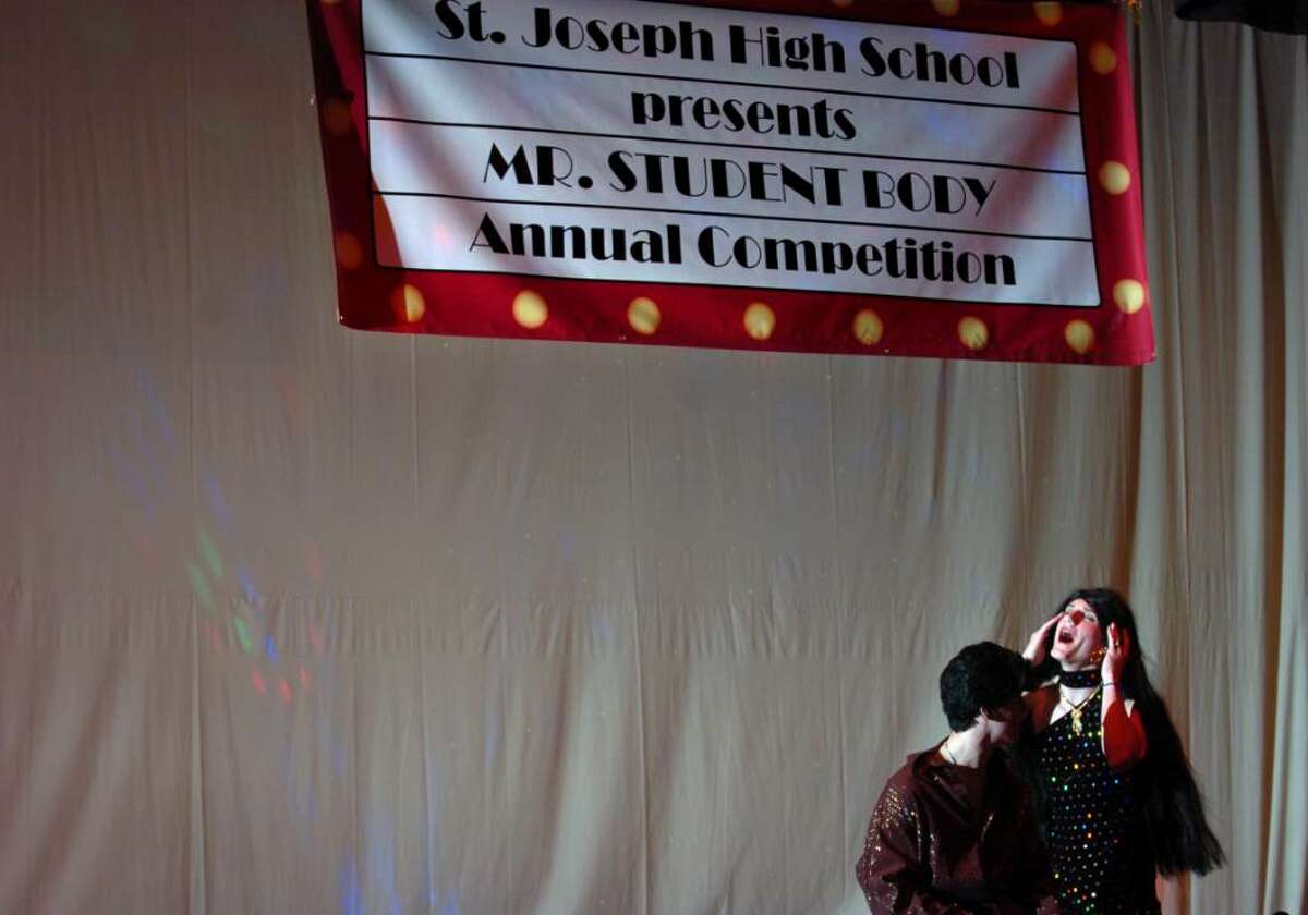 St. Joseph's fourth annual Mr. Student Body Competition Thursday Mar. 18, 2010 at the school in Trumbull. Proceeds benefit the Center for Women and Families of Bridgeport and their White Ribbon Campaign, in which men and boys oppose violence against women.