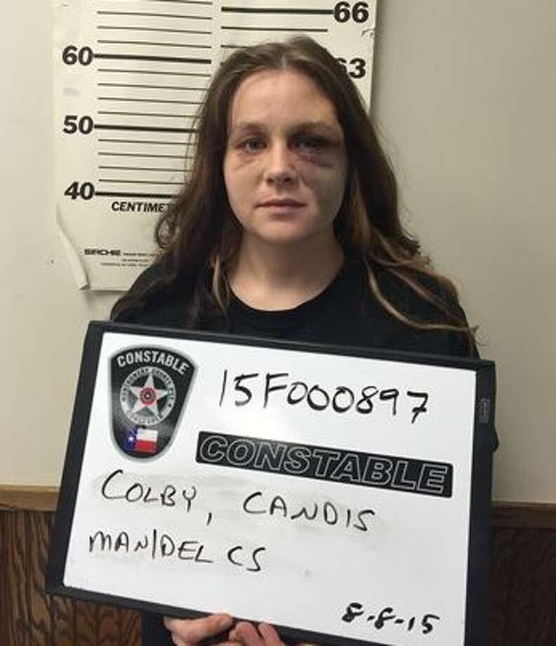 Candis Sue Colby, 32, was arrested on drug charges after running from a car involved in a police chase on U.S. 59, Aug. 8, 2015. Montgomery County Police Reporter Photo: Montgomery County Police Reporter