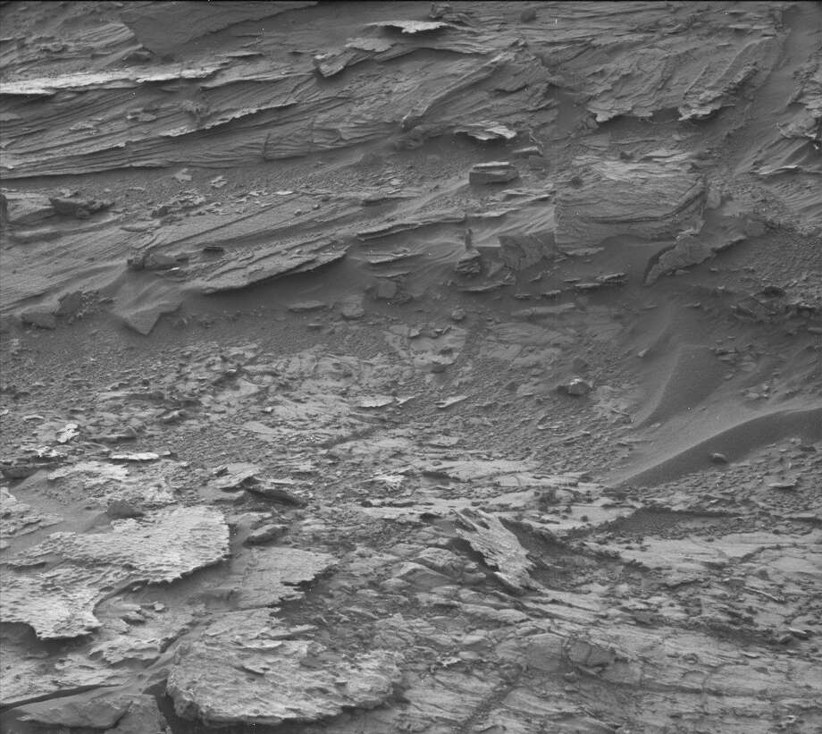 Some bloggers say they've found a wayfaring woman wandering this martial landscape, as photographed by NASA's Curiosity rover. Can you find her? Find the answer int he next slide...