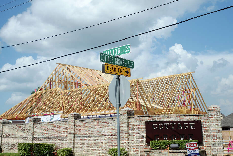 A new home undergoes construction off Major Drive on Wednesday afternoon. The Beaumont area has seen a sizable amount of growth around Major Drive and the west end.