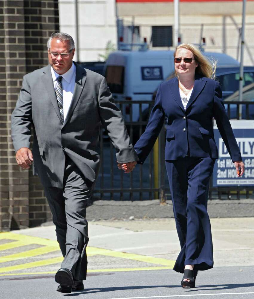 Former Halfmoon Supervisor Melinda Wormuth admitted accepting $5,500 in bribes to lobby on behalf of the mixed martial arts industry. She pleaded guilty on Monday. (Lori Van Buren / Times Union)