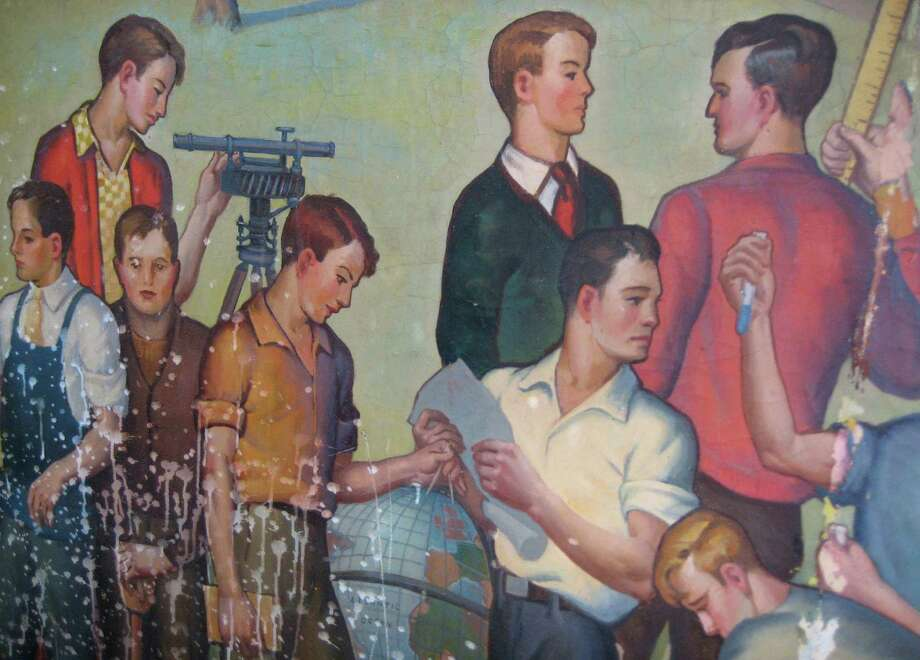 Louis Agostini Section of Mural from Old Central Grammar Schoool Photo: Contributed Photo / Contributed Photo / Connecticut Post Contributed