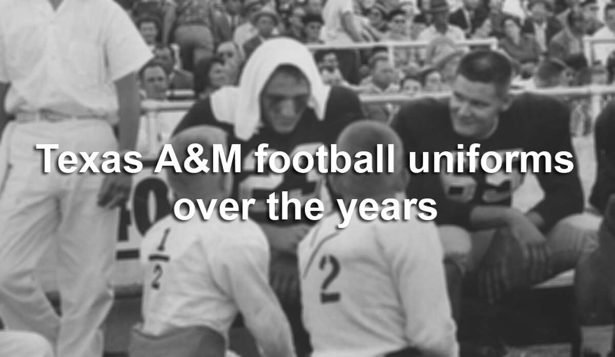 Even though they've had a few bold design updates recently, A&M football uniforms have traditionally seen little variation. This is how they've changed since 1950.