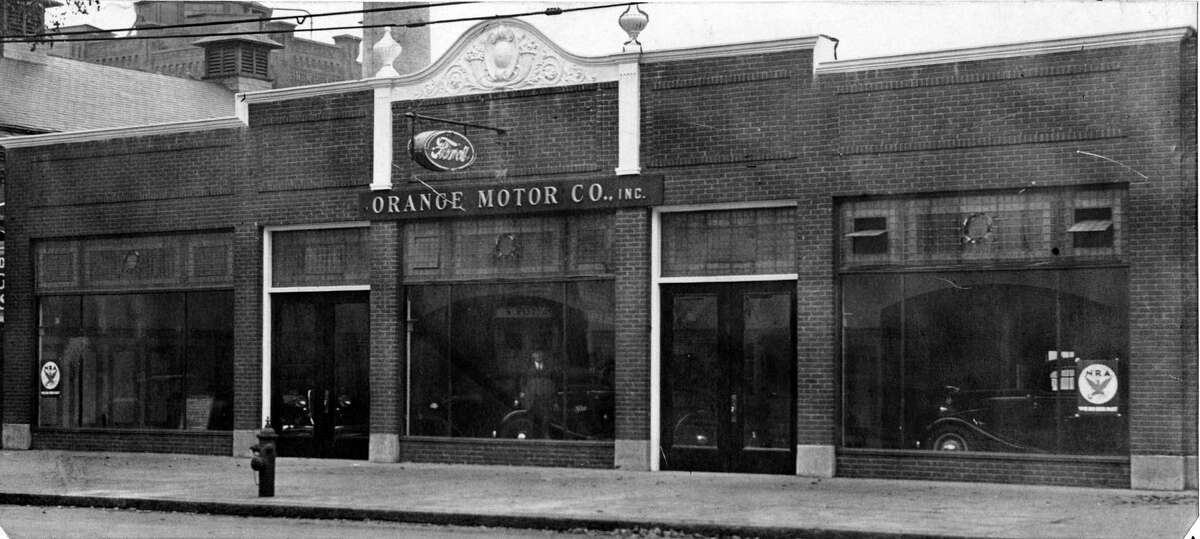 Orange Motor 430 Central Ave. with National Industrial Recovery Act (NIRA) posters shown, Oct. 23, 1933, in Albany, N.Y. (Times Union archive)