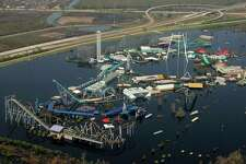 New Orleans, LA, Sept. 14, 2005 -- Six Flags Over Louisiana remains submerged two weeks after Hurricane Katrina caused levees to fail in New Orleans. Bob McMillan/FEMA Photo