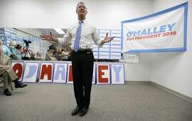 Democratic presidential candidate, former Maryland Gov. Martin O'Malley, speaks during the opening of his Cedar Rapids Field Office, Wednesday, Aug. 5, 2015, in Cedar Rapids, Iowa. (AP Photo/Charlie Neibergall)